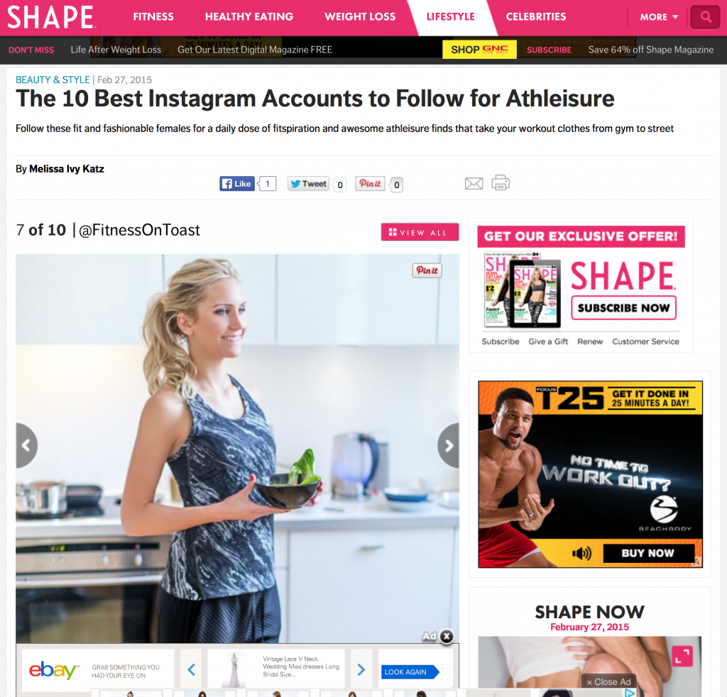 SHAPE.COM - 27th FEB 2015