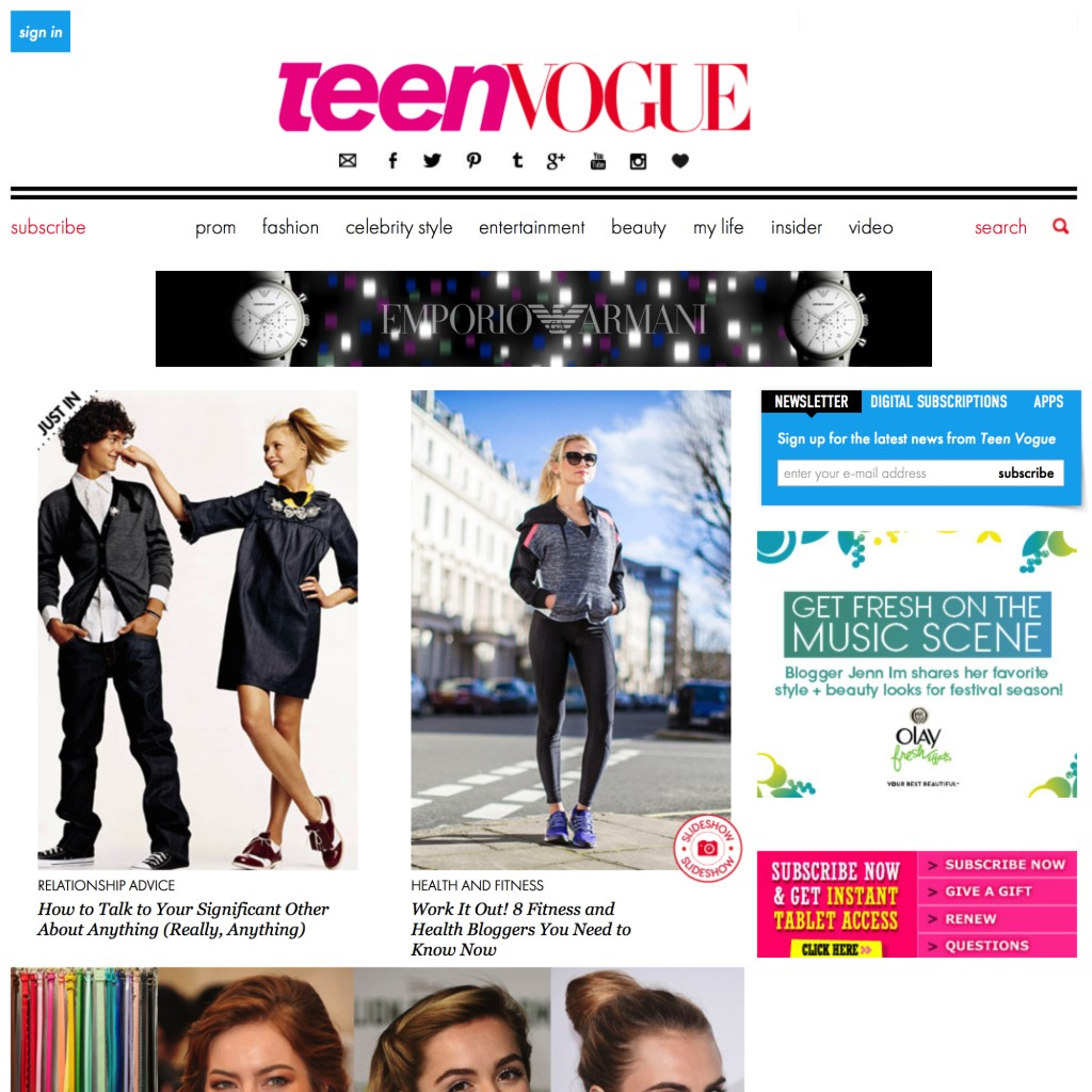 TEEN VOGUE FEATURE - 16th JUN 2014