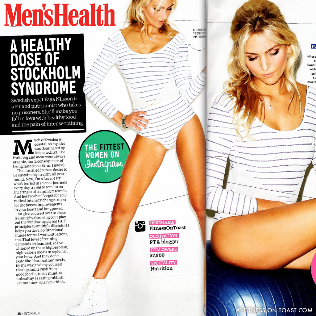 "MEN'S HEALTH - MAGAZINE FEATURE - AUGUST EDITION - ""FITTEST WOMEN OF INSTAGRAM"" FEATURE"