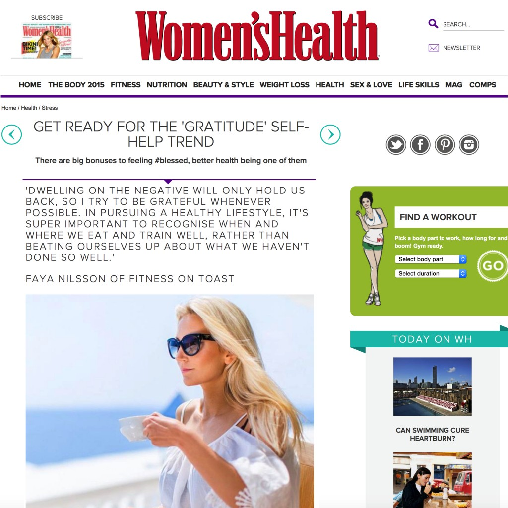 WOMEN'S HEALTH - 17th JULY 2015
