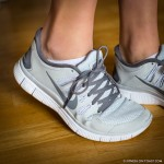 Nike Free Run + Shoes in White and Grey