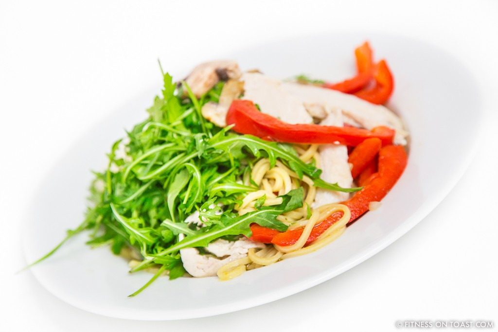 CHICKEN RAMEN  http://fitnessontoast.com/2013/07/14/healthy-chicken-ramen/