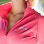 ASICS SEAMLESS JACKET IN PINK  http://fitnessontoast.com/2013/10/13/central-park-leg-workout/