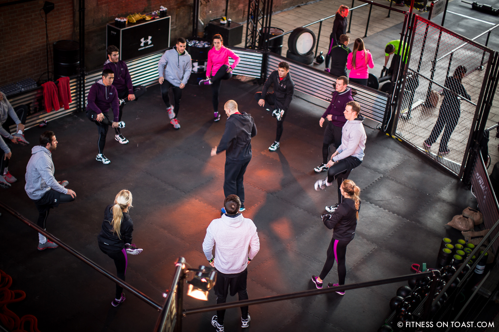 Fitness On Toast Faya Under Armour Armor Gym Southwark Bridge London Pop Up Exercise Temporary Stations Sledge Functional Compound-13