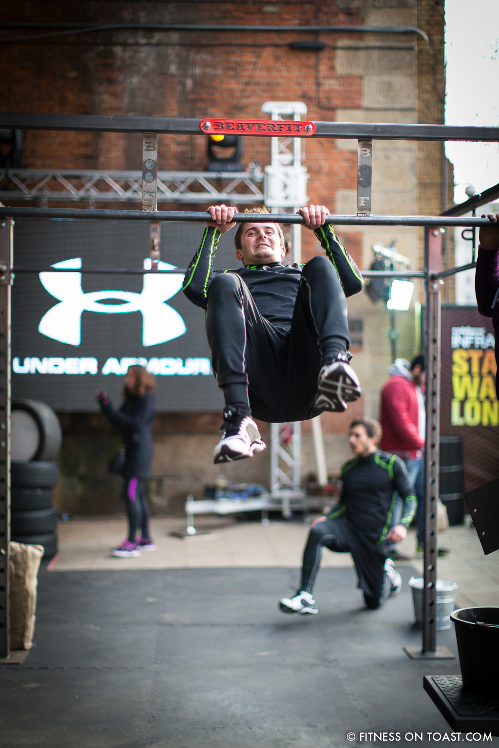 Fitness On Toast Faya Under Armour Armor Gym Southwark Bridge London Pop Up Exercise Temporary Stations Sledge Functional Compound-14