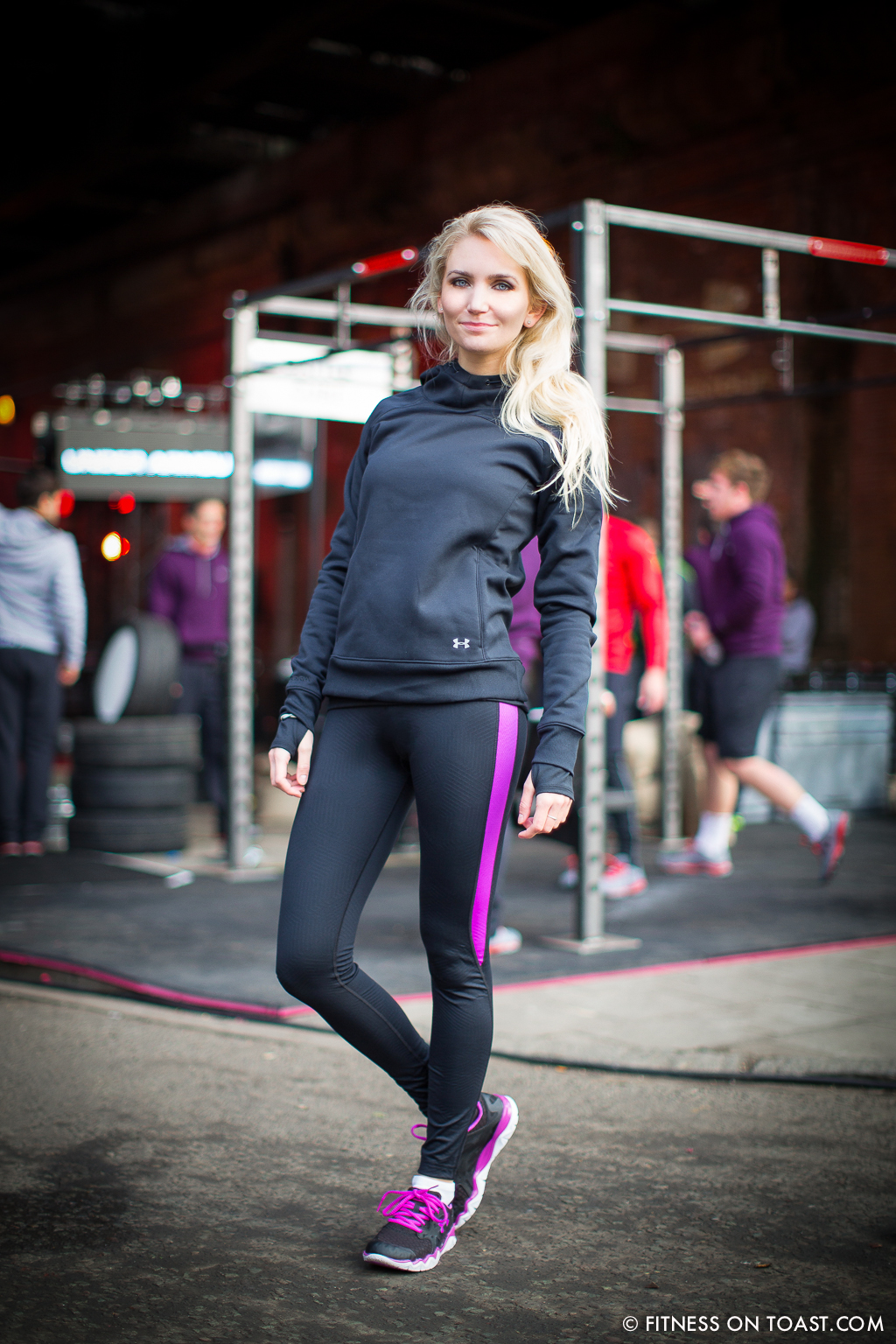 Fitness On Toast Faya Under Armour Armor Gym Southwark Bridge London Pop Up Exercise Temporary Stations Sledge Functional Compound-2
