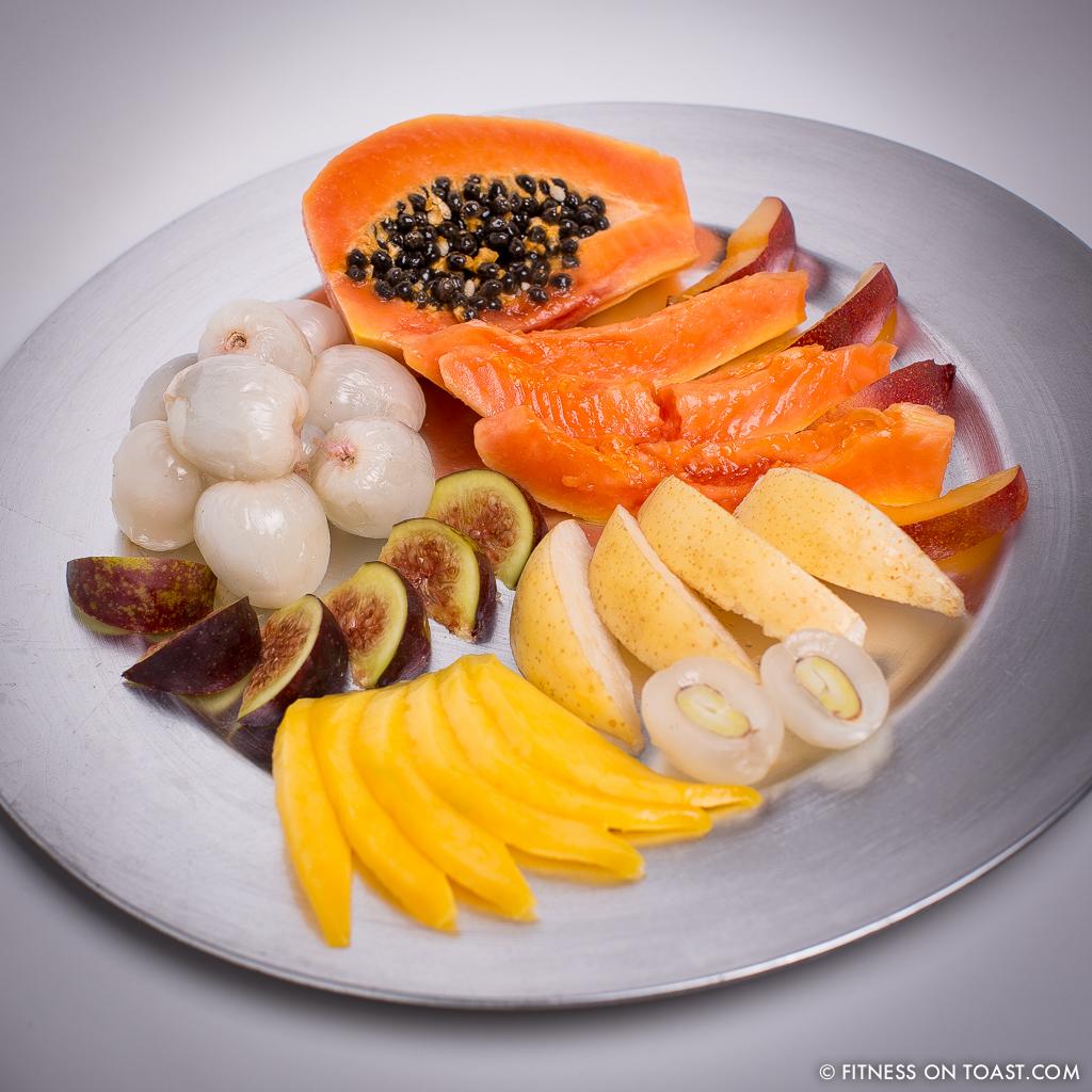 Fitness On Toast Faya Blog Exotic Fruit Salad Nutrition Healthy Low Calorie Easy Recipe Nutritious Tasty Treat Dessert Mango Papaya Lychee Nectarine Fig SQUARE