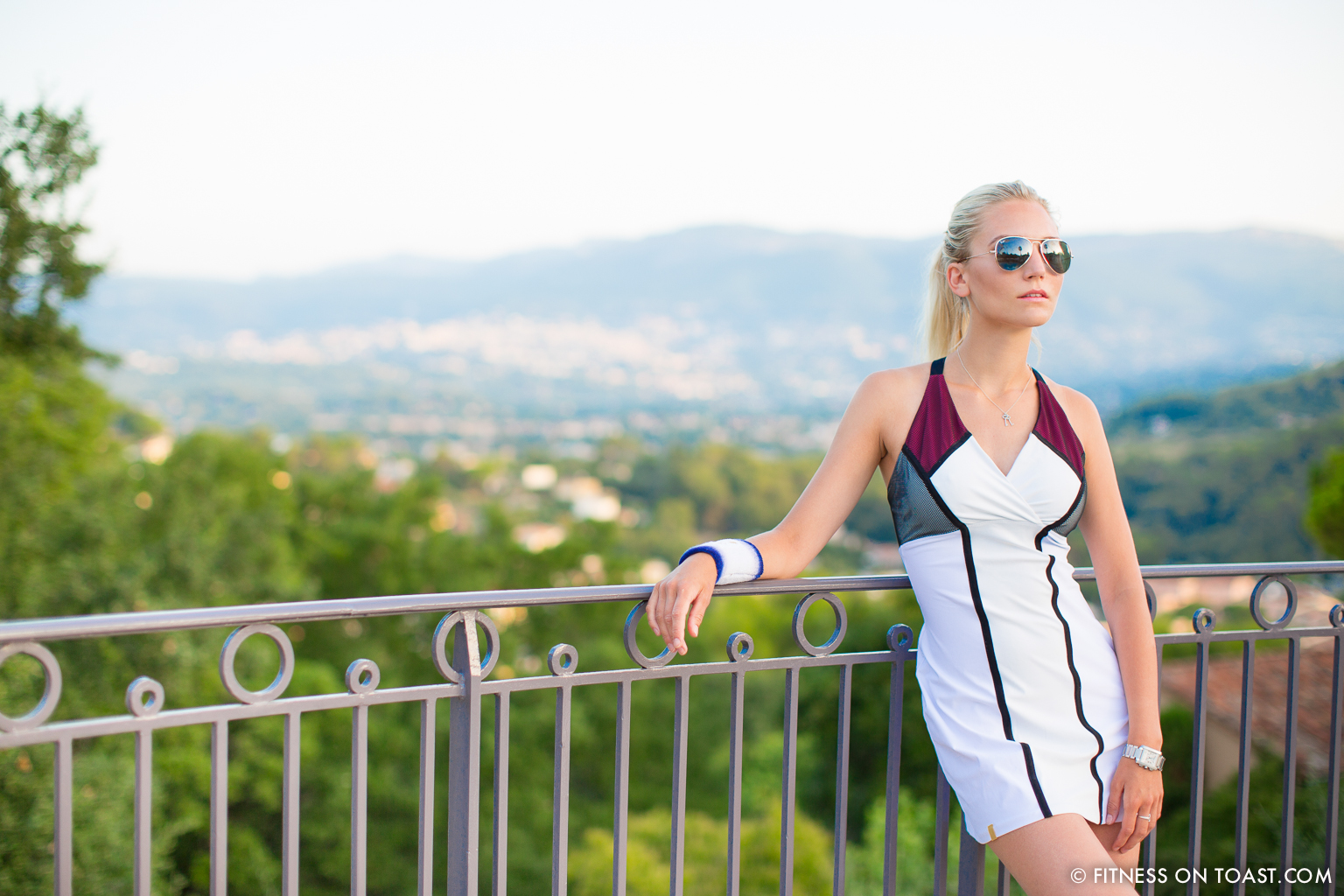 Fitness On Toast Faya Blog Travel Hotel Hermitage Monreal Monte Carlo Sports Apparel Tennis Dress Post-14