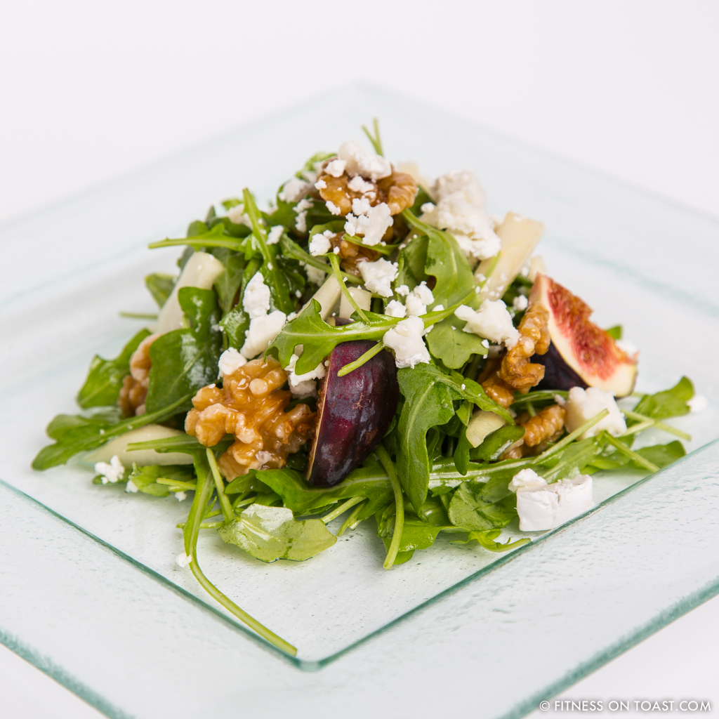 Pear Salad Faya Fitness On Toast Fig Rocket Walnut Goats Cheese Healthy nutrition yummy local organic produce SQUARE
