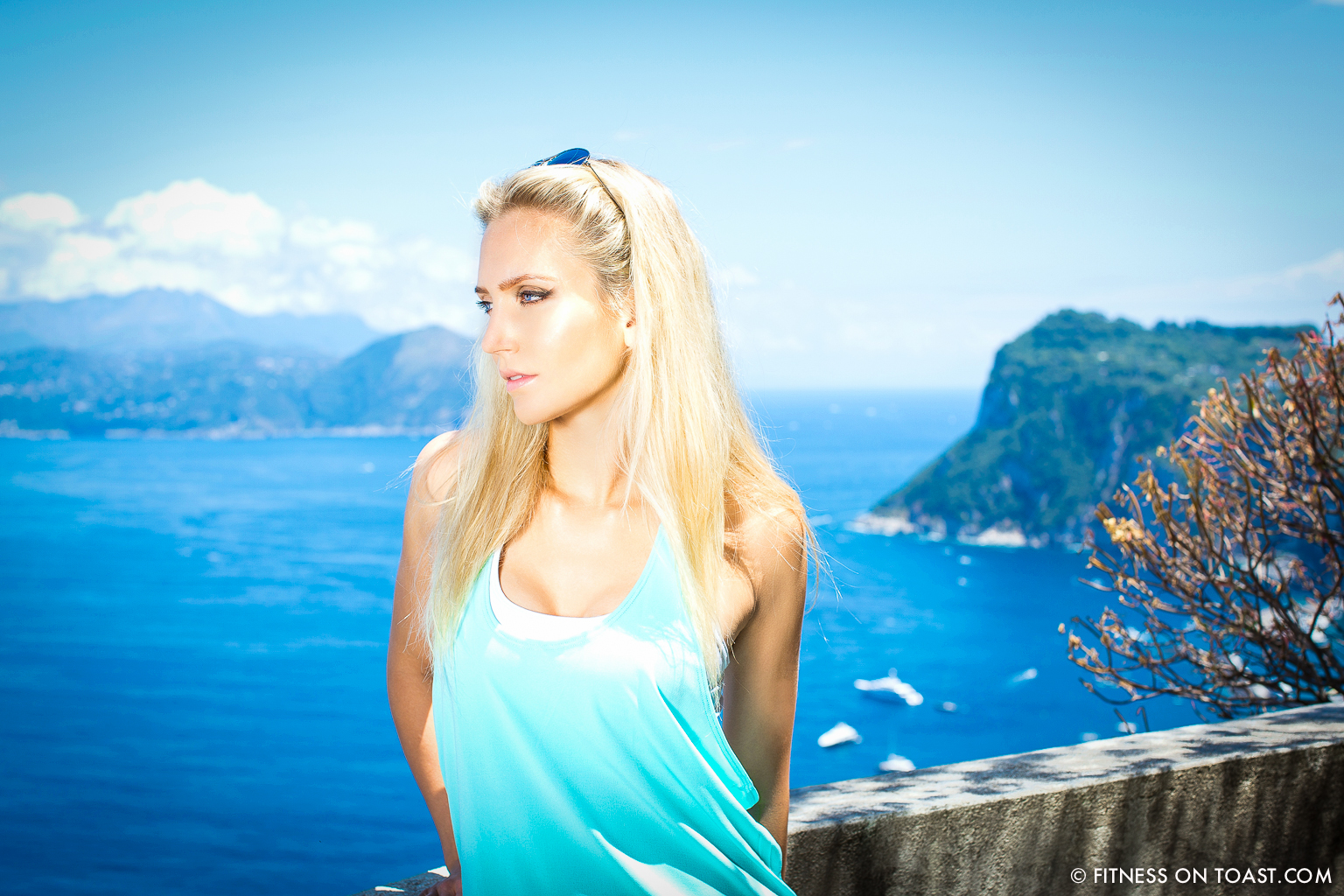 Fitness On Toast Faya Blog Girl Training Outfit Fashion Fit Workout Meditation ActiveInStyle Lorna Jane Capri Caesar Augustus Hotel Travel Balcony Beautiful View-3