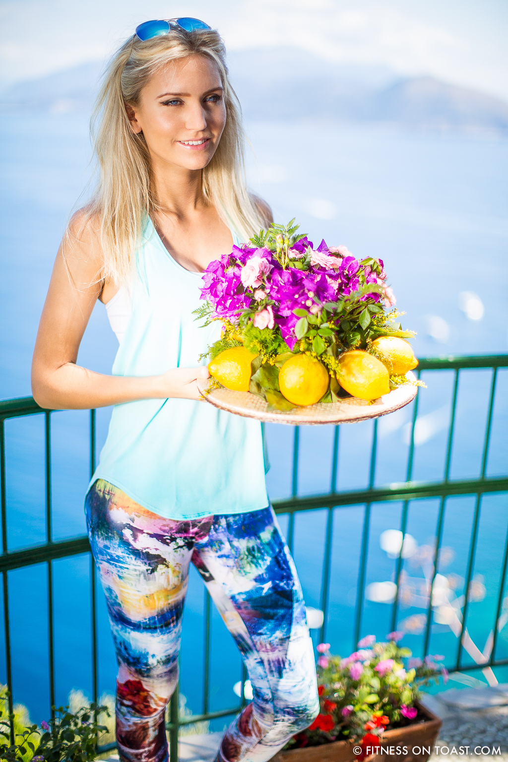 Fitness On Toast Faya Blog Girl Training Outfit Fashion Fit Workout Meditation ActiveInStyle Lorna Jane Capri Caesar Augustus Hotel Travel Balcony Beautiful View-7