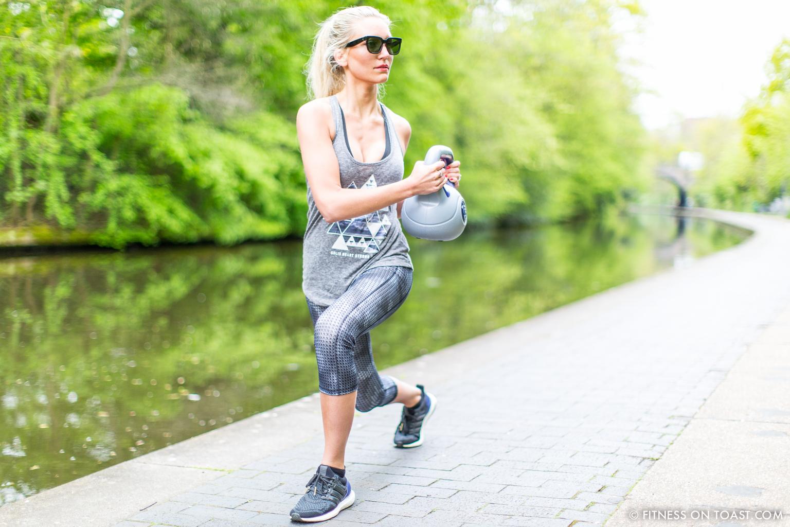 Fitness On Toast Faya Blog Girl Healthy Workout Regents Canal London Kettle Bell Squat Swing Lunge Twist Burpees Old Navy Fashion OOTD Gap Chanel Celine-6