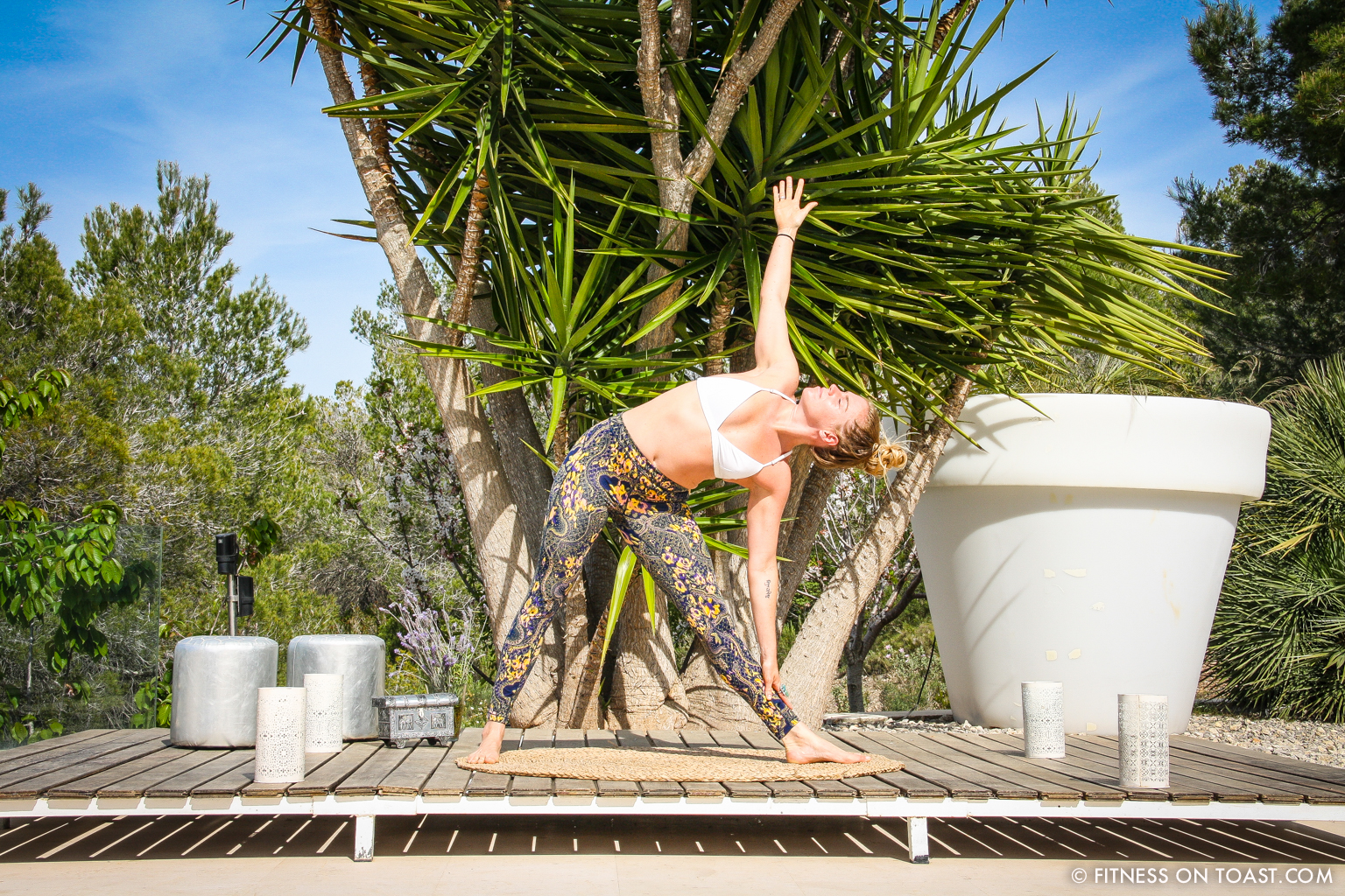 Fitness On Toast Faya Blog Girl Healthy Training Yoga Chakra Daisy Jewellery Routine Sun Holiday Travel Luxury Ibiza Villa Destination Spain Balearic Bootcamp