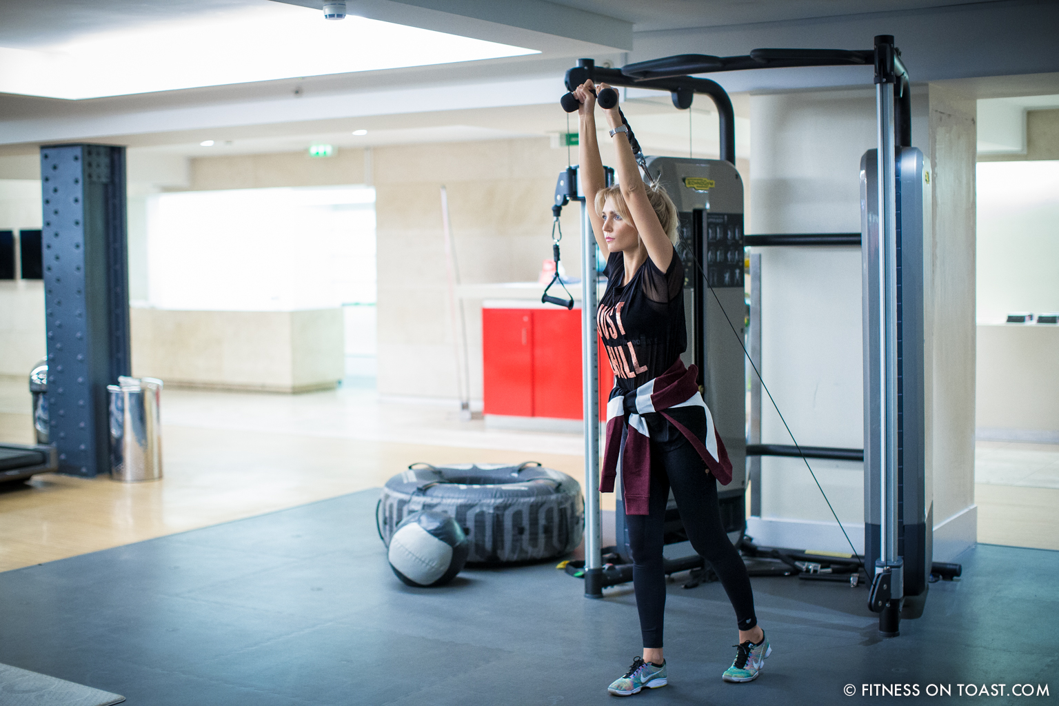 Fitness On Toast Faya Blog Girl Healthy Health Workout Arm Exercise Forever 21 Virgin Active Gym Training Fashion-8