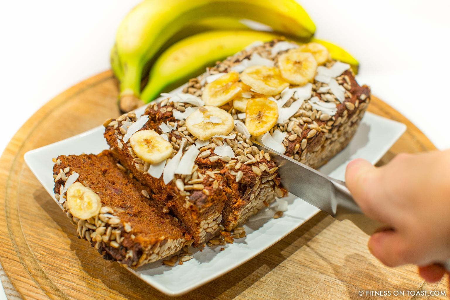 superb banana bread fitness on toast