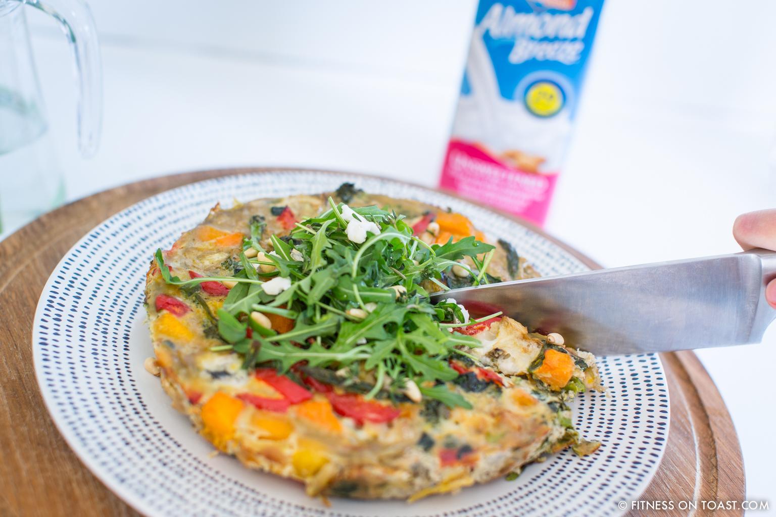 Fitness On Toast Faya Blog Post Blue Diamond Almonds Vegetable Frittata Healthy Recipe Idea Food Blog Recipes-11