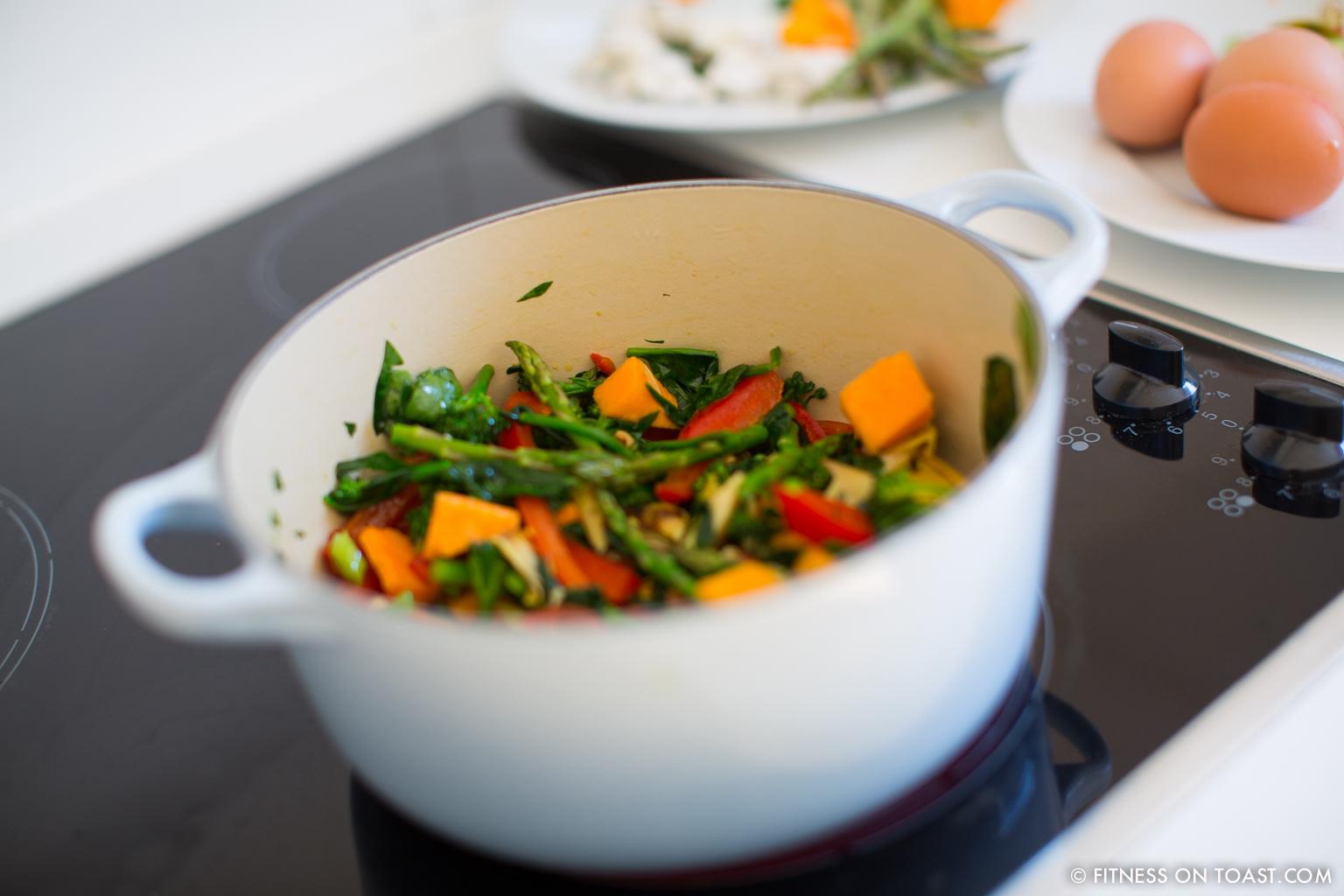 Fitness On Toast Faya Blog Post Blue Diamond Almonds Vegetable Frittata Healthy Recipe Idea Food Blog Recipes-7