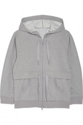ADIDAS BY STELLA MCCARTNEY Essentials hooded Climalite® cotton-blend sweatshirt