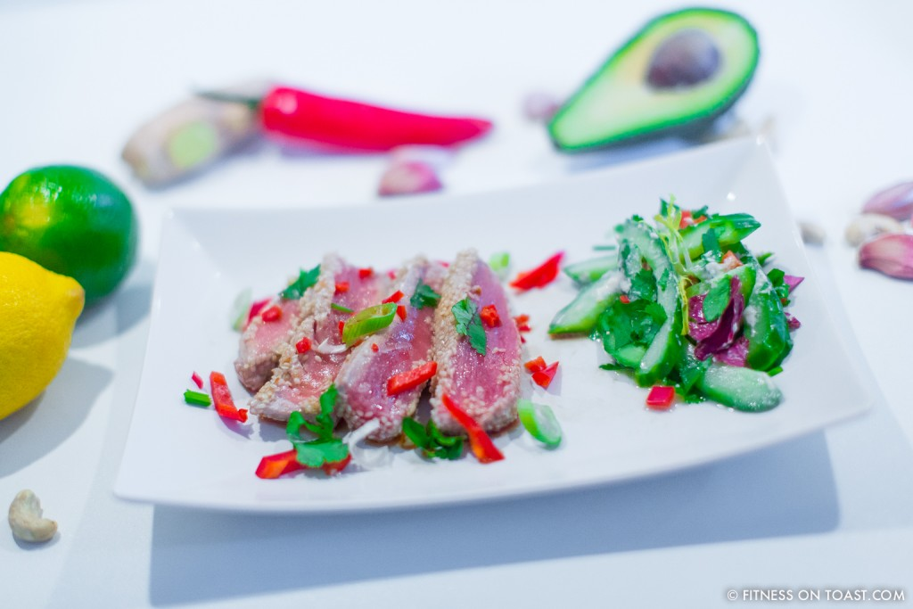 Seared maldivian tuna dish fitness on toast fitness on toast faya blog girl healthy workout exercise meal training diet plan health fish protein forumfinder Choice Image