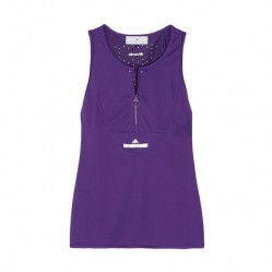 ADIDAS BY STELLA CLIMACHILL STRETCH TOP IN PURPLE